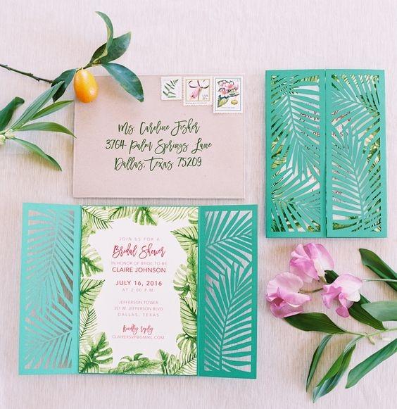invitación tropical