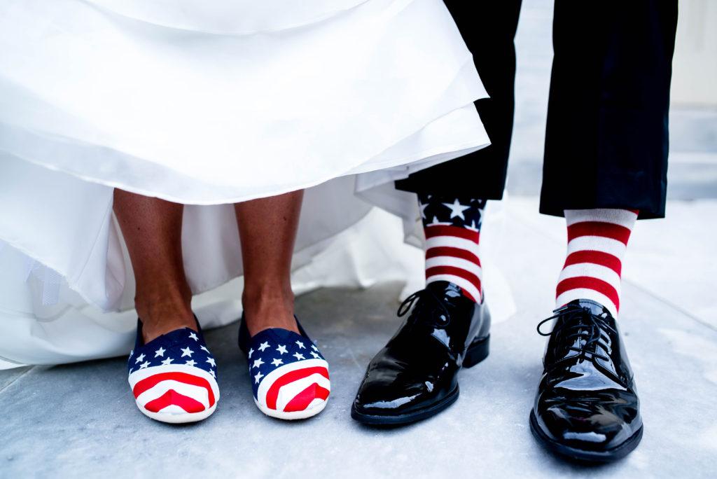 medias para una boda el 4 de julio