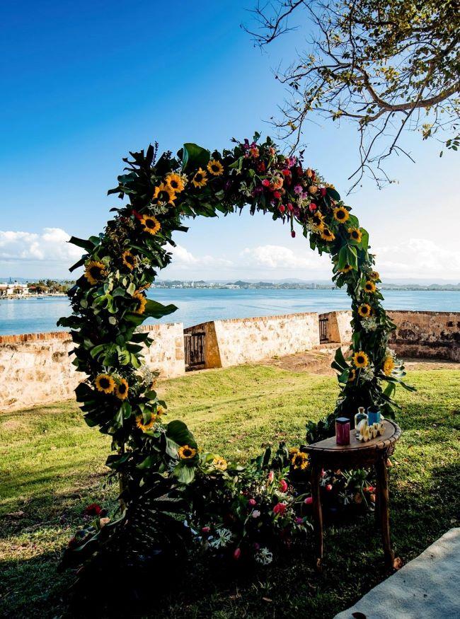 arco de ceremonia bodas en otoño