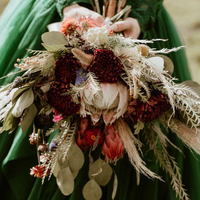 ramo de novia salvaje otoño