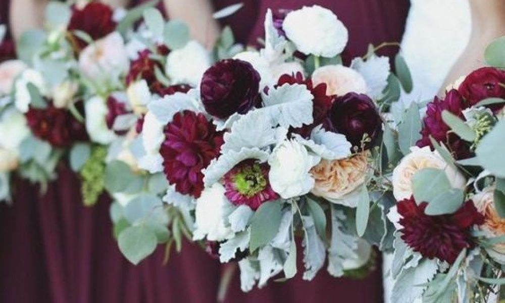 como decorar boda color marsala