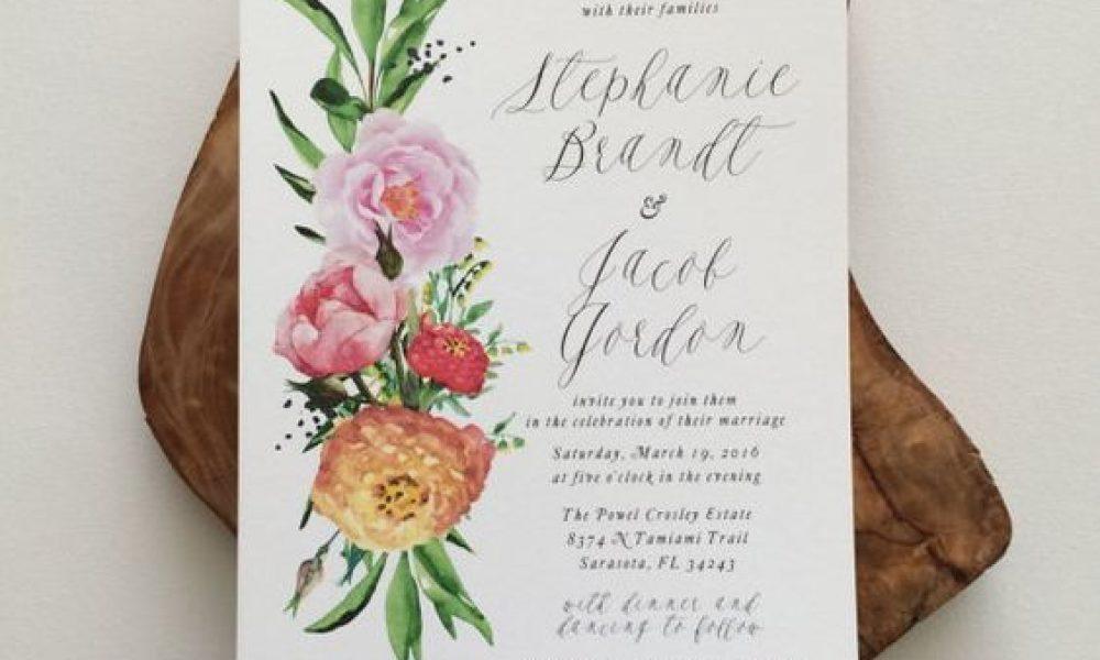Invitaciones para una boda en primavera, color y más color