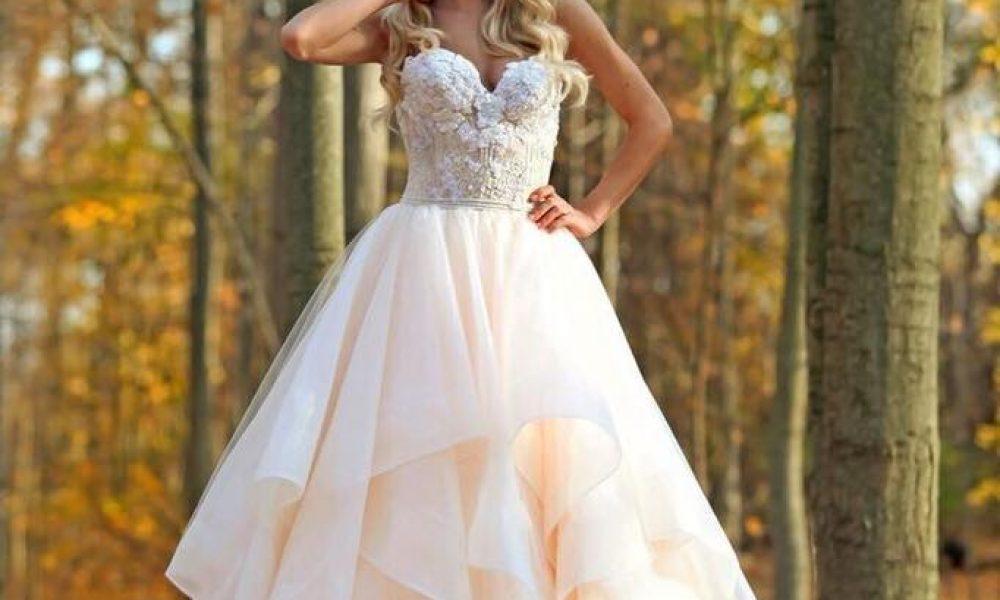 Elegantes vestidos de novia para bodas en otoño