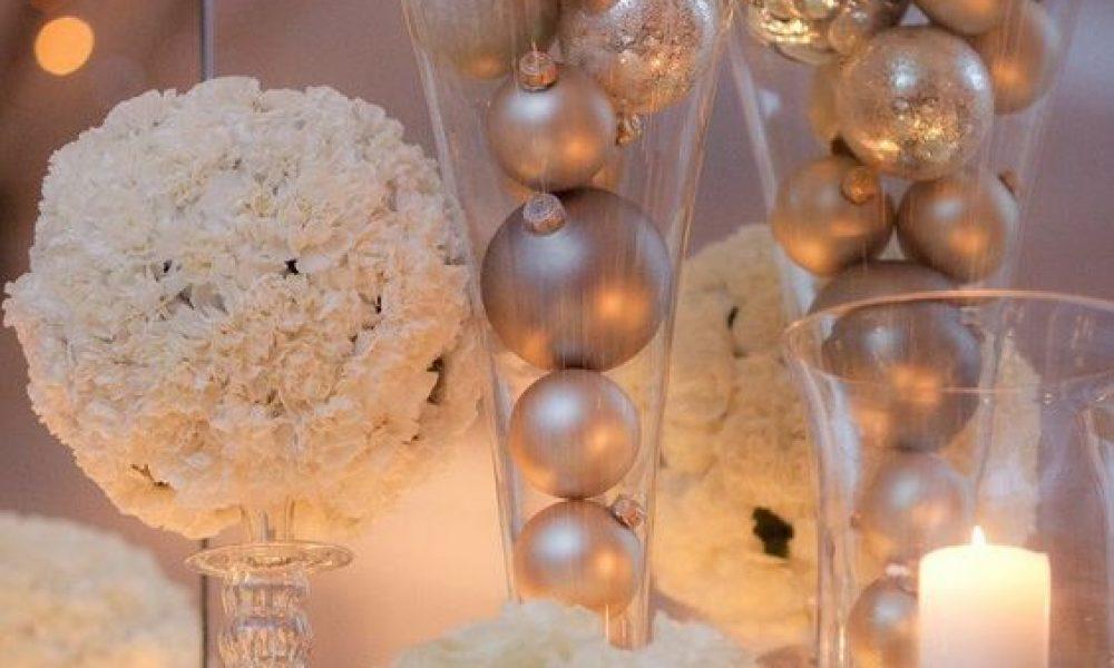 Centros de mesa navideños para tu boda