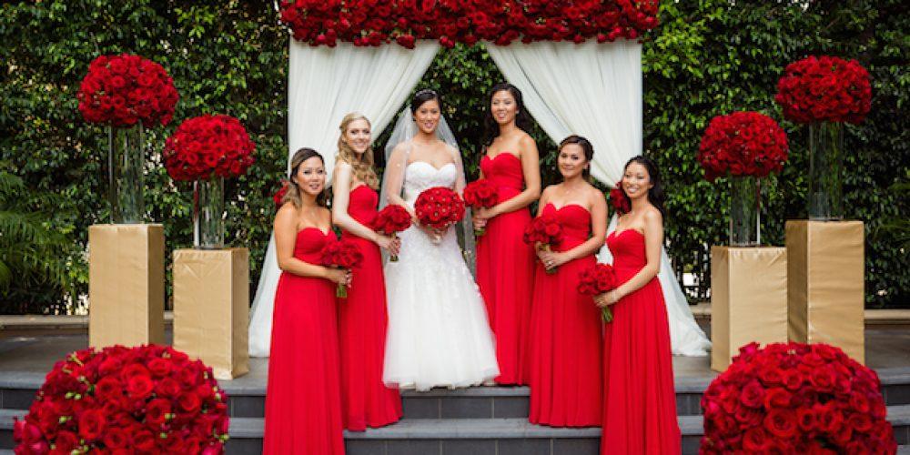 Boda romántica con rosas rojas para San Valentín