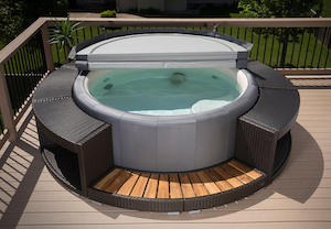 San Diego Rattan Surround hot tub accessories