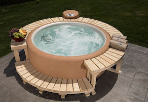 Natural Wood Surround hot tub accessories