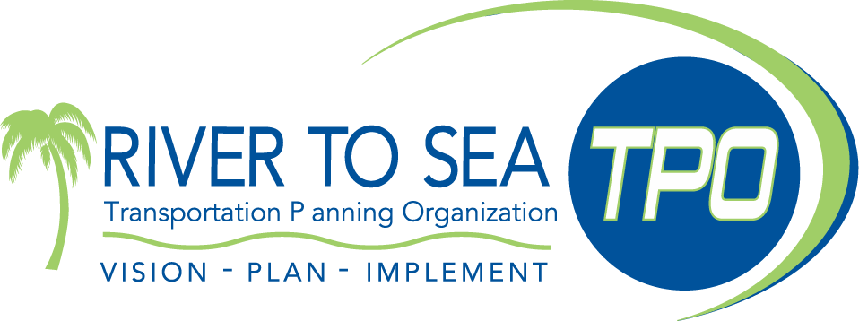 River to Sea Transportaion Planning Organization Logo. Vision - Plan - Implement