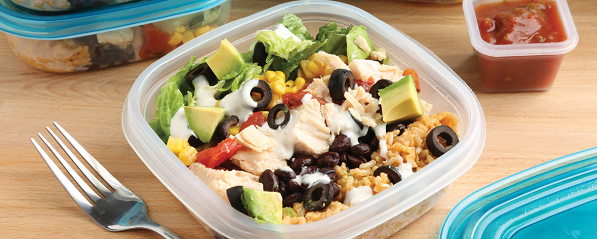 Chicken Burrito Lunch Bowls