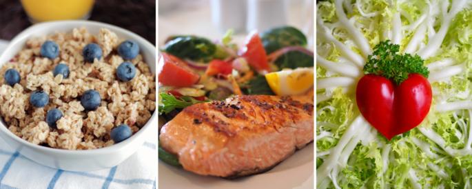 Heart-healthy foods.