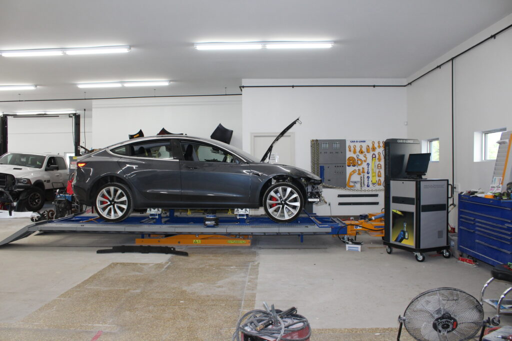 twisted metal collision tesla auto body shop