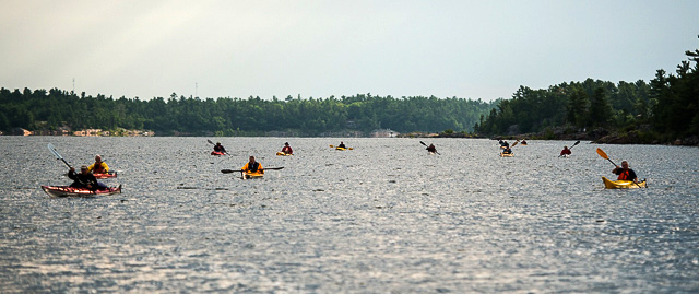 Kayaking many
