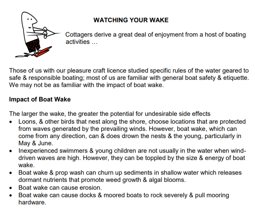 Did You Know the Impact of YOUR Wake Has Consequences?
