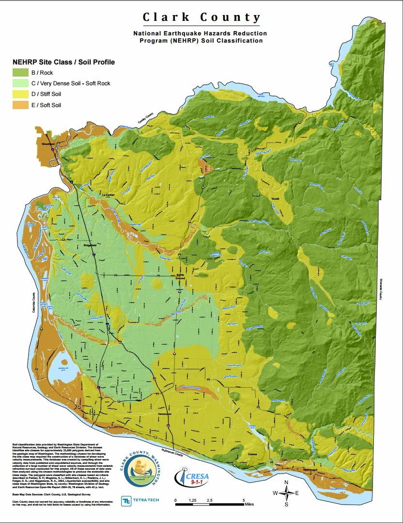 Clark County NEHRP Soil Classification