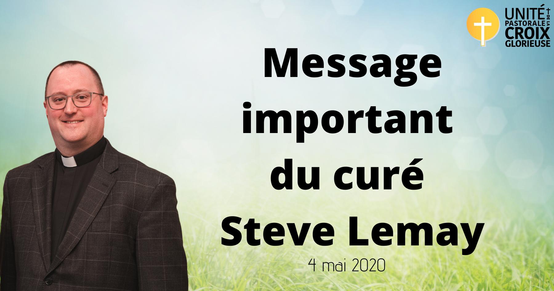 Message important de Steve Lemay