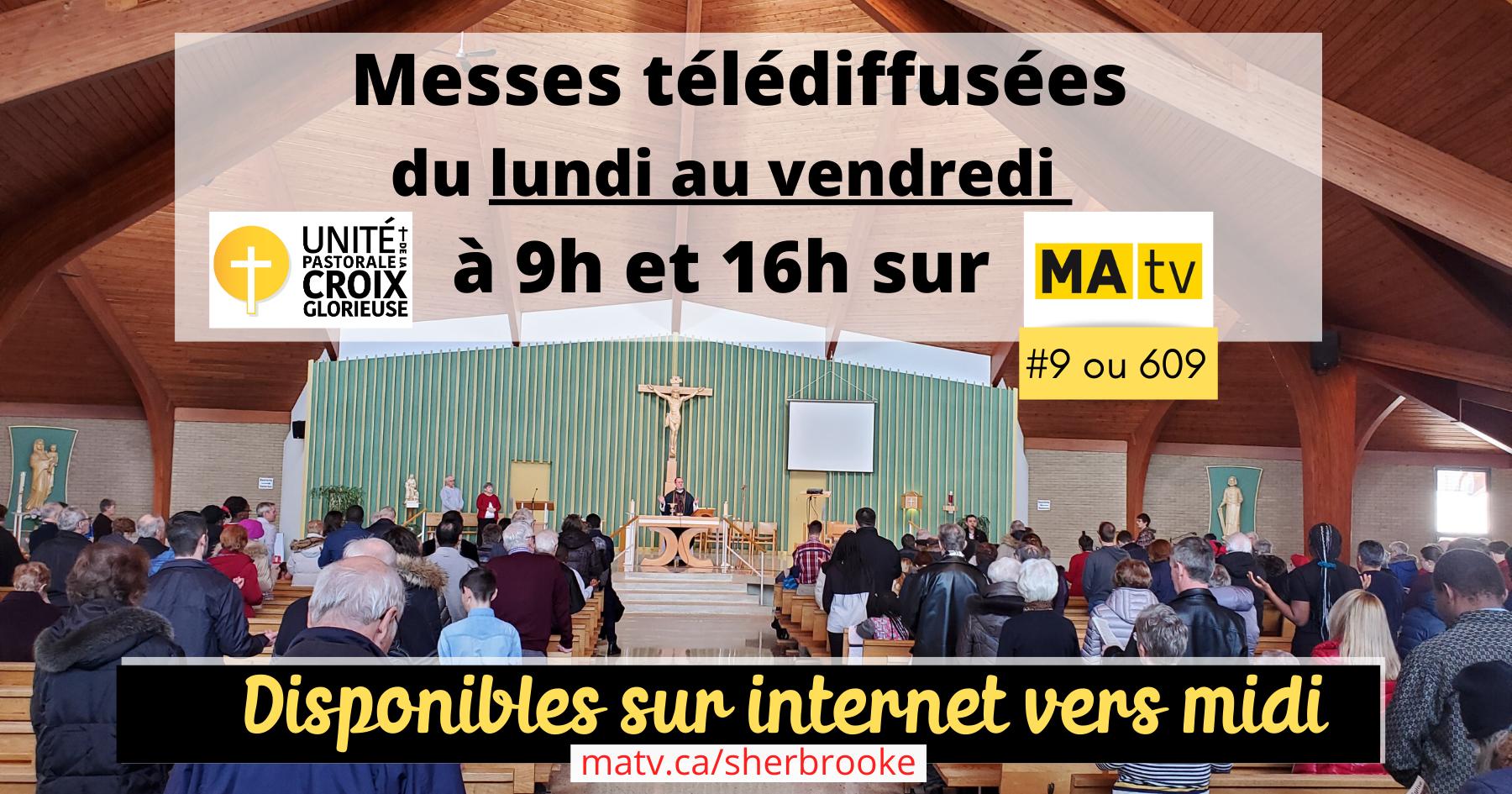 Messes télédiffusées MaTV juin 2020