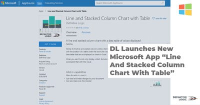 "DL Launches New Microsoft App ""Line And Stacked Column Chart With Table"""