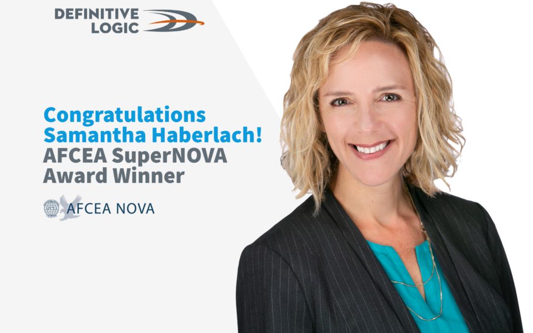 Definitive Logic's Samantha Haberlach Named AFCEA SuperNOVA December's Winner