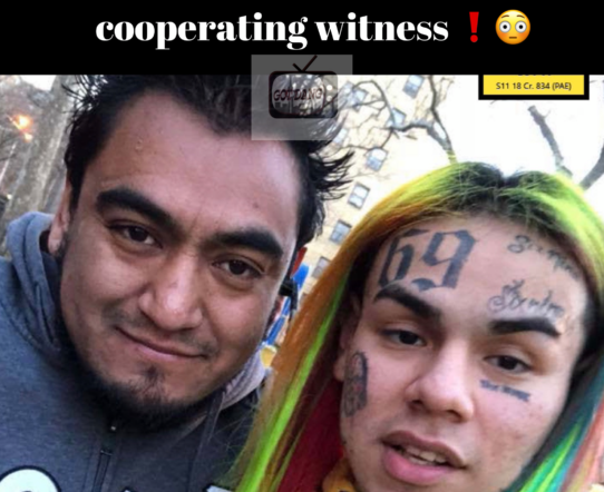 6ix9ine Driver cooperated with feds !