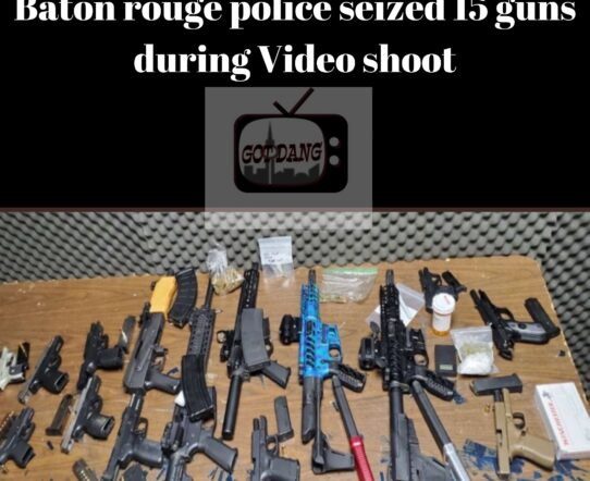 Baton rouge police arrested multiple people for 15 guns during video shoot !