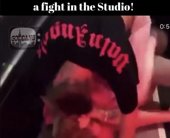 Bhad babie & woah vicky get into a fight in the studio !