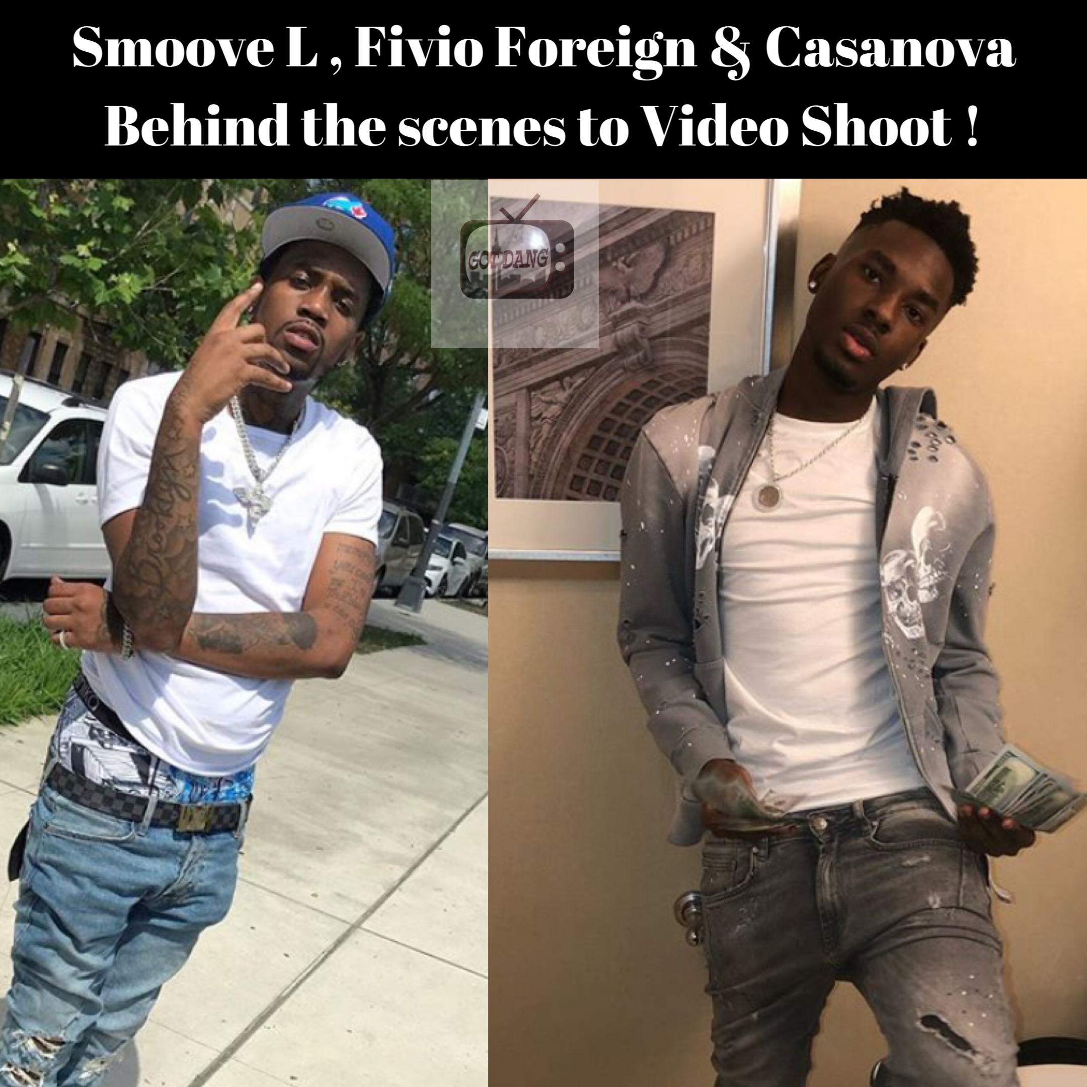 Smoove L , Fivio Foreign , & Casanova Shooting Video