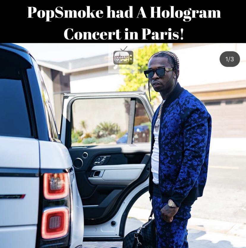 Paris had a Hologram Popsmoke concert!
