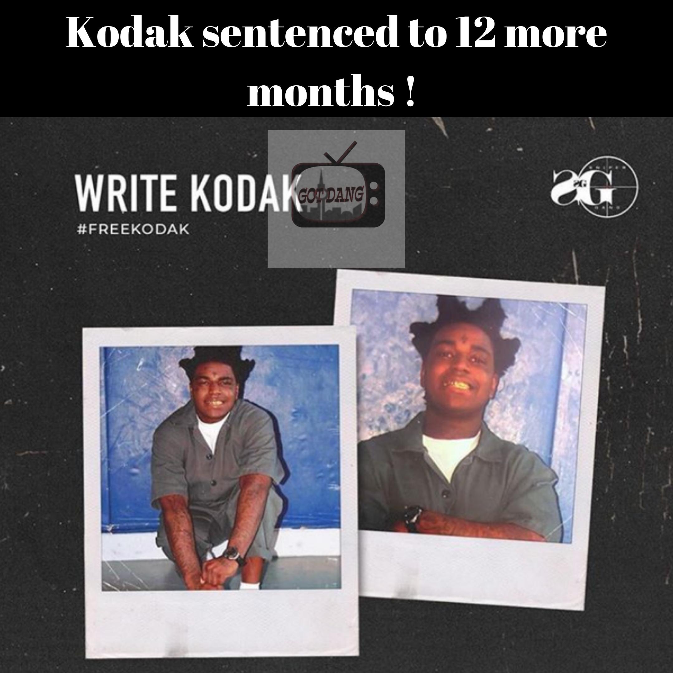 Kodak black sentenced to 12 more months