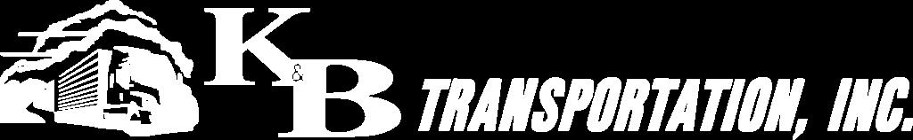 K&B Transportation horizontal logo reversed