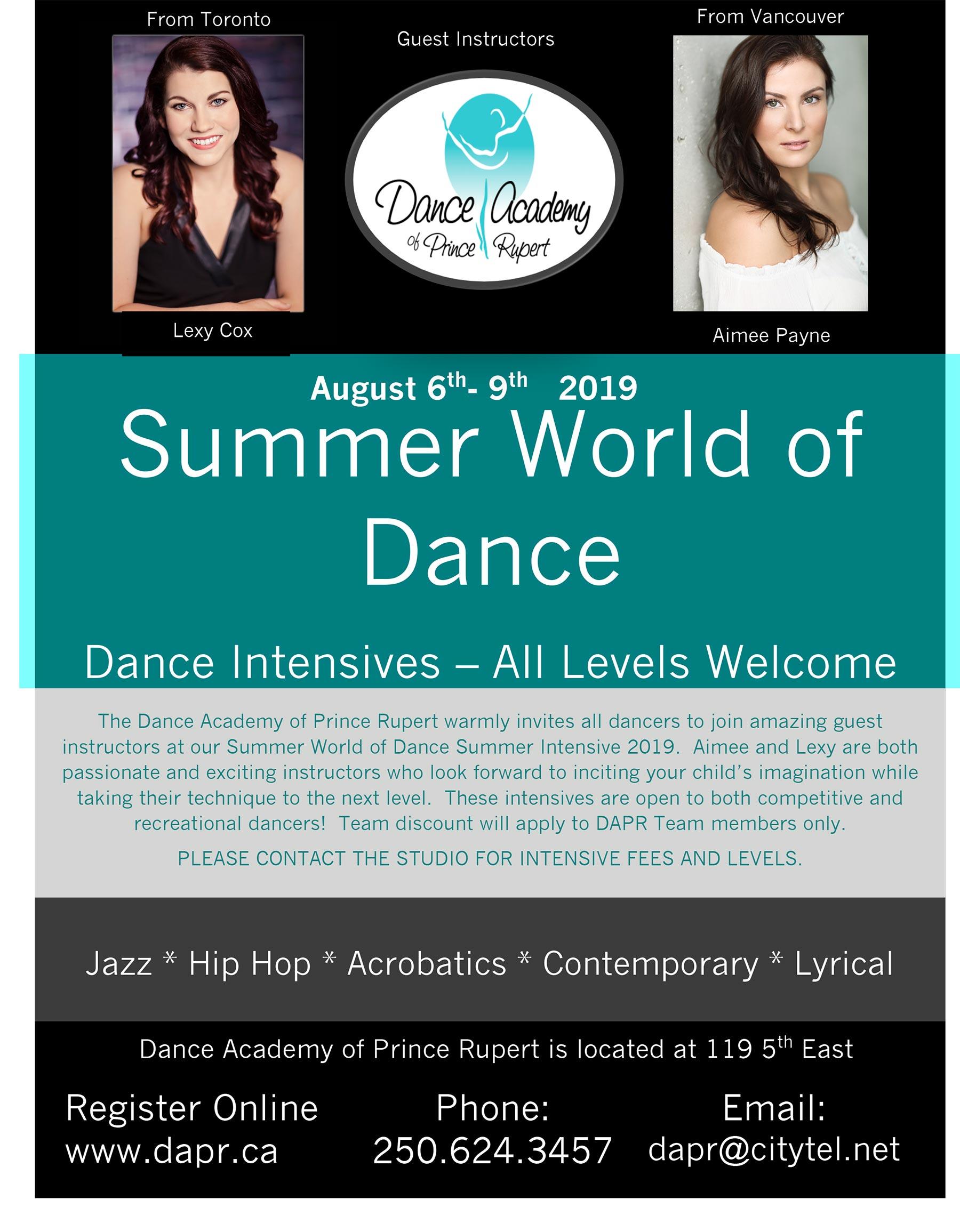 Dance Academy of Prince Rupert Summer Intensive