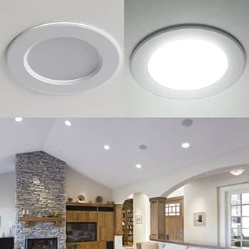 recessed lights in a living room