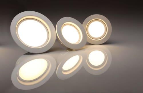 three recessed lights