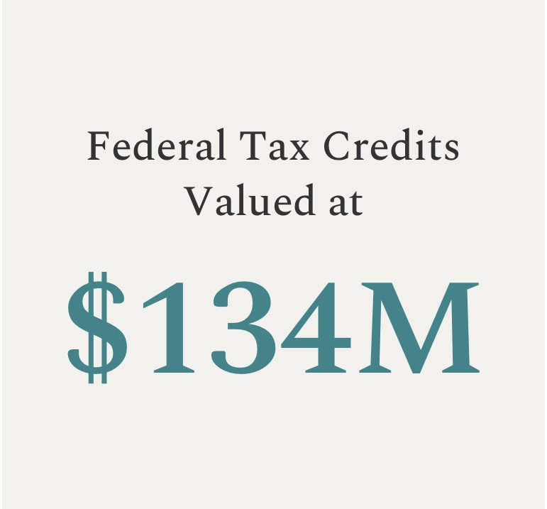 Federal Tax Credits Valued at $100M+