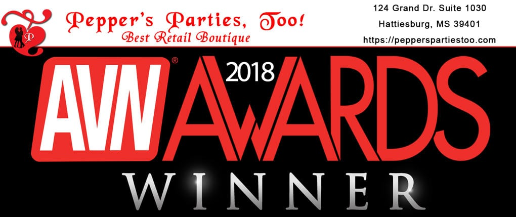 Pepper's Parties, Too receives our 3rd AVN nomination for Best Boutique!