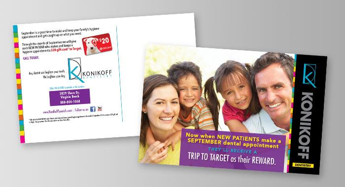 Konikoff Dentistry Postcard by BRITE