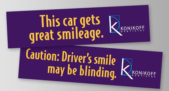 Konikoff Dentistry Bumper Sticker by BRITE