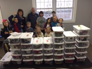 Operation Christmas Child Shoebox Packing