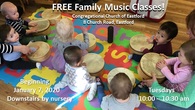 Family Music Classes beginning Jan 7, 2020 (Tuesdays at 10 AM)