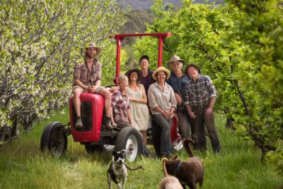 The community farmers at Harcourt Organic Farmers Coop. Photograph: Oliver Holmgren