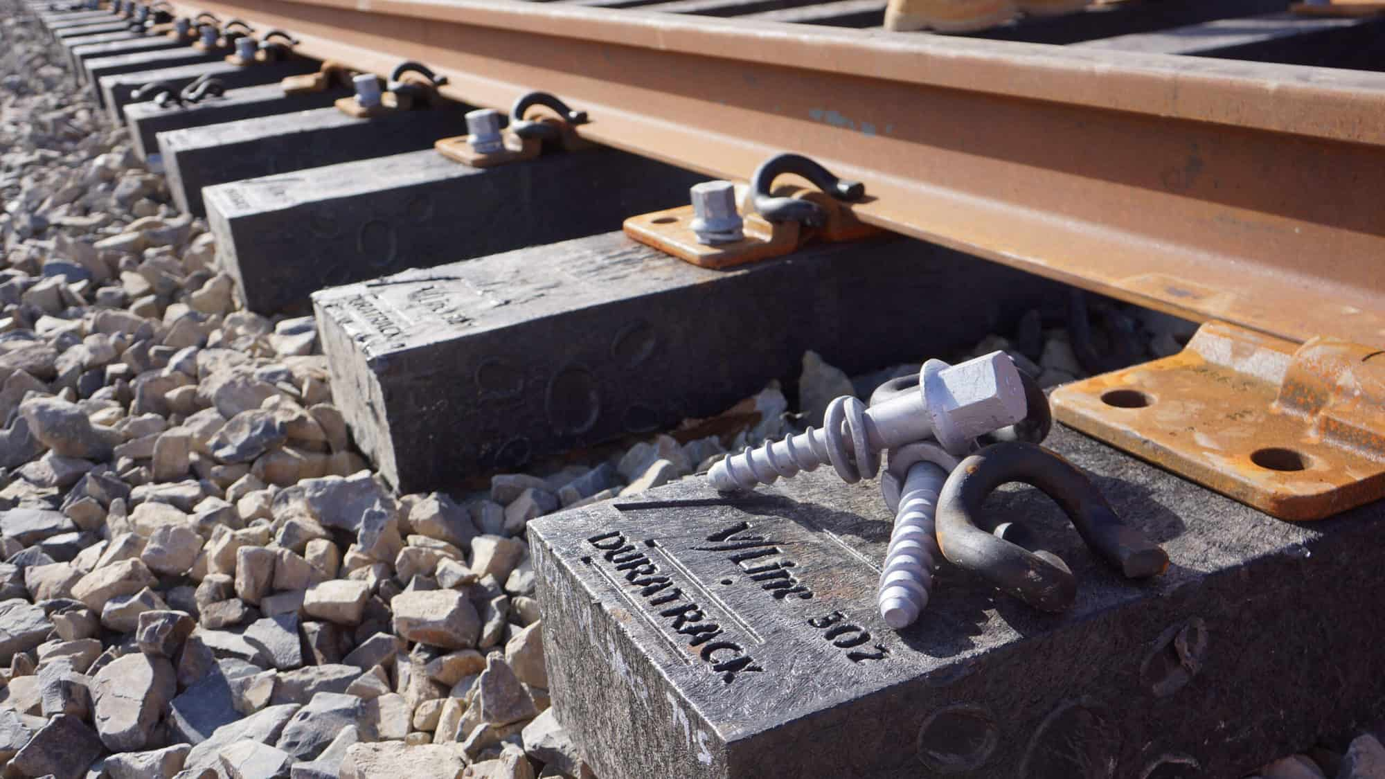 Duratrack railway sleepers provide sustainable alternative