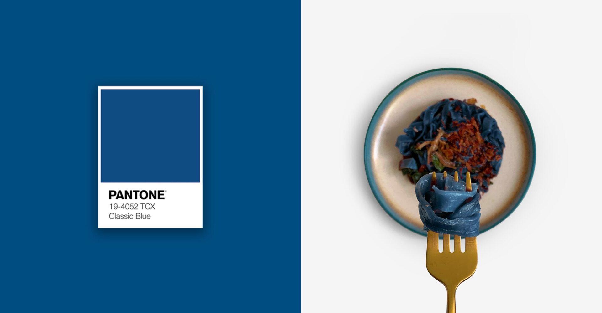 Pantone 2020 - Classic Blue - Food on Fork