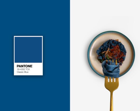 Pantone 2020 - Classic Blue - Food on Fork