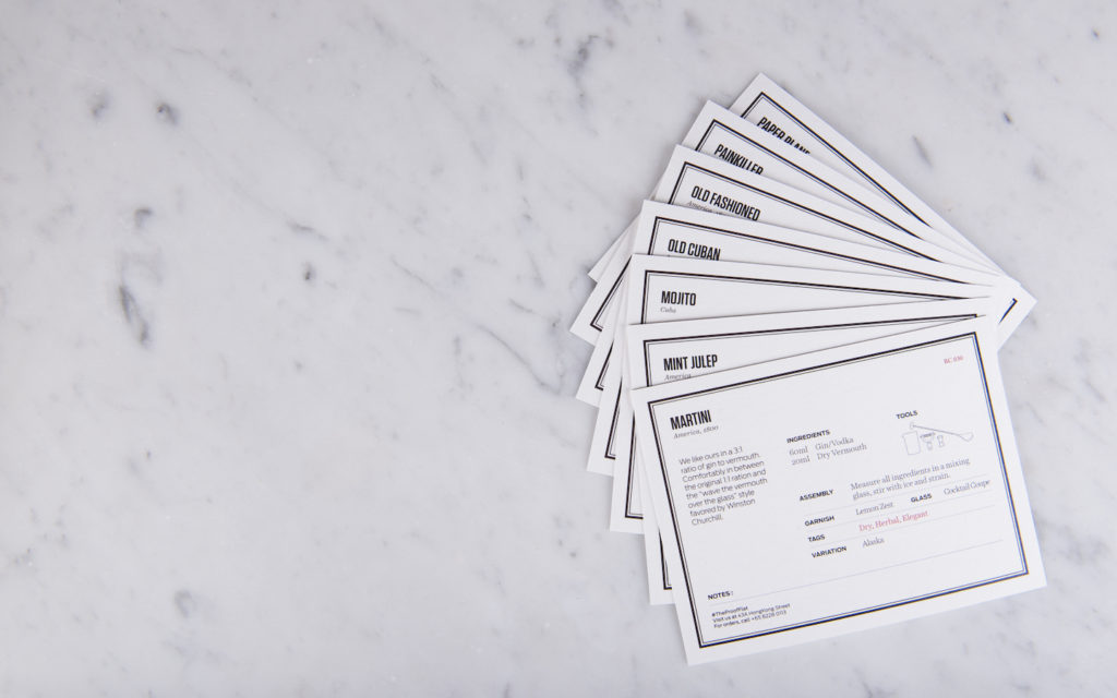 The Proof Flat - Cocktail Recipe Cards