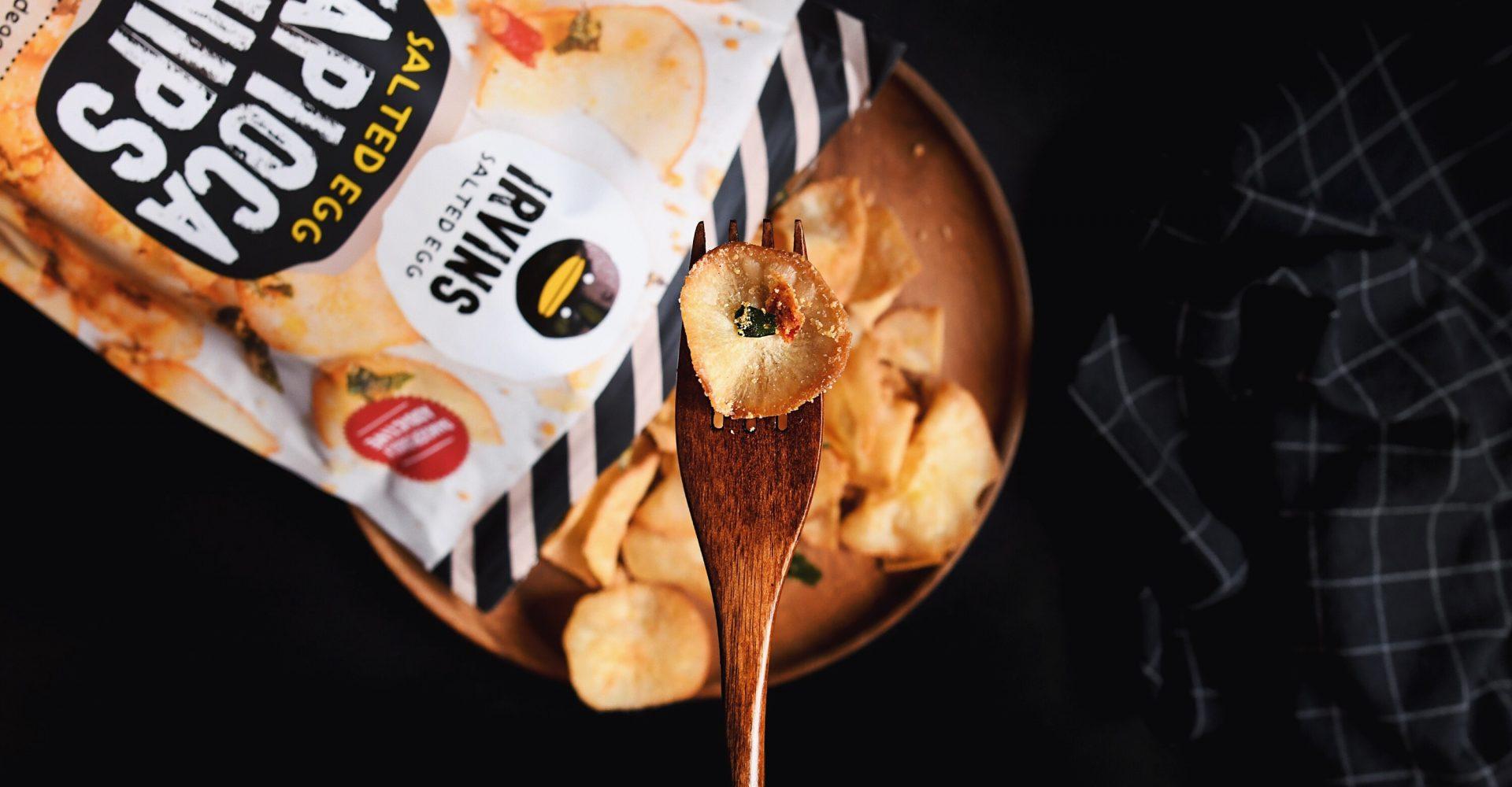 Irvins Salted Egg - Food on Fork