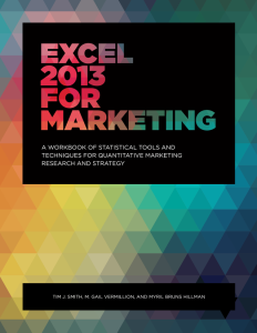 Excel 2013 for Marketing