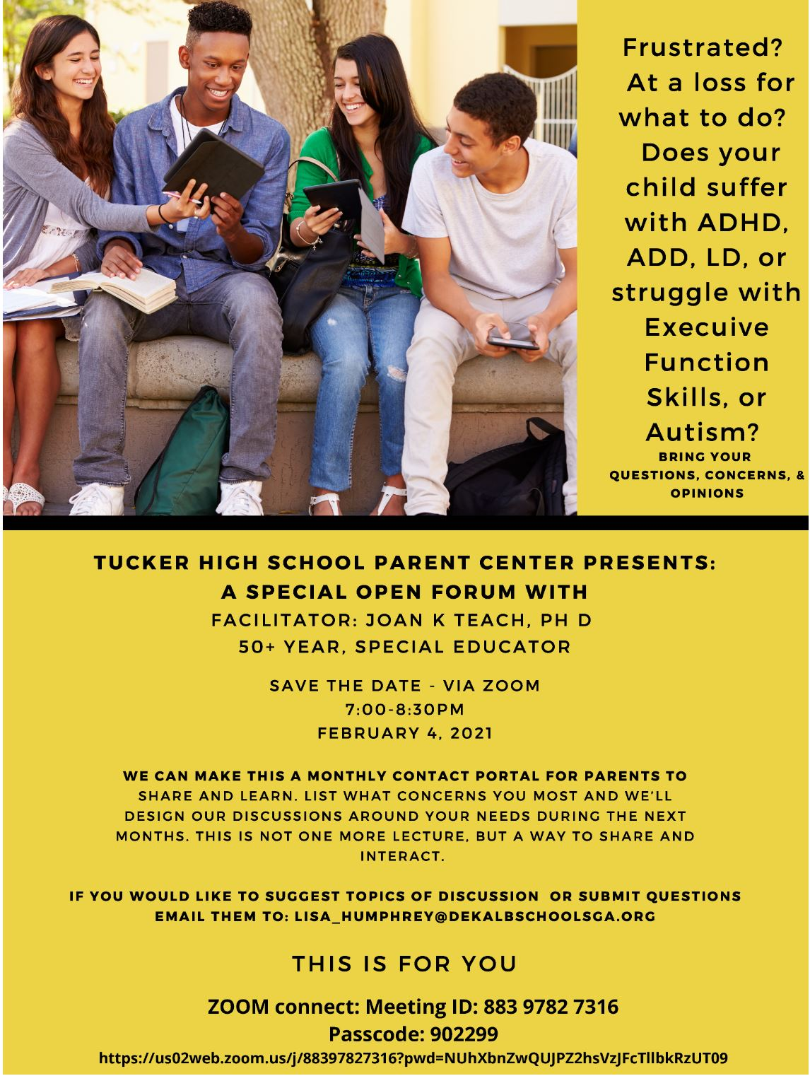 Virtual Workshop for Parents