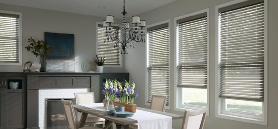 Choosing Between Faux and Genuine Wood Blinds Near Baltimore, Maryland (MD) for Dining Room Design