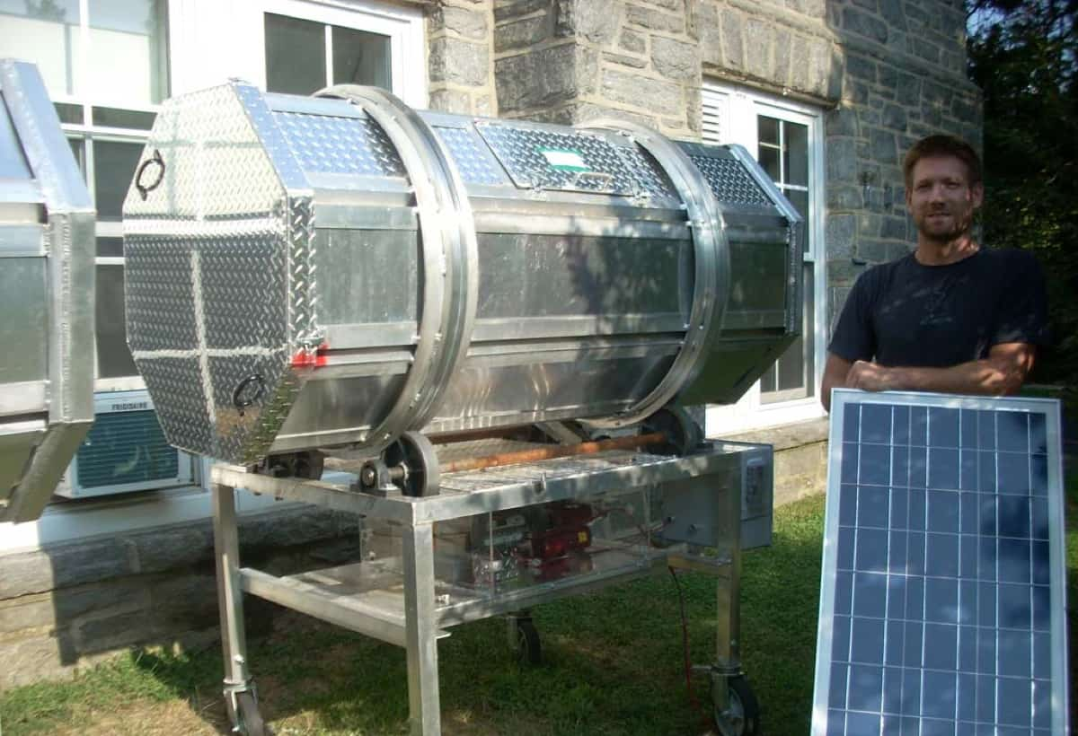 Solar powered composter used by dining facilities at Swarthmore College - Swarthmore, PA