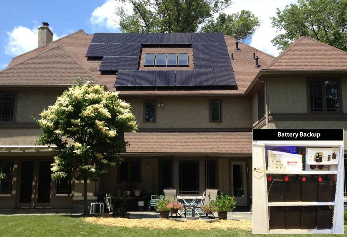 5.98 kW Solar-Powered Battery Backup System - Wynnewood, PA