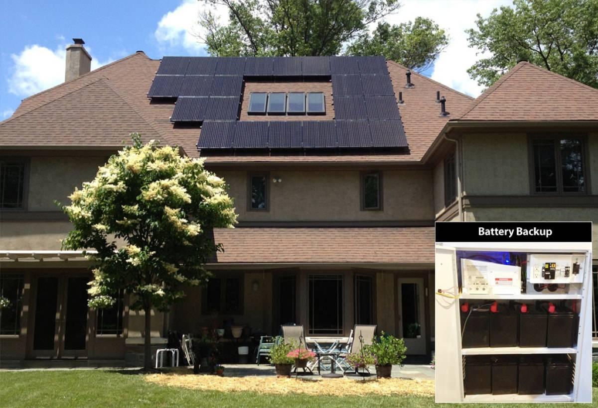 5.98 kW Solar-Powered Battery Backup System - Wynnewood, PA